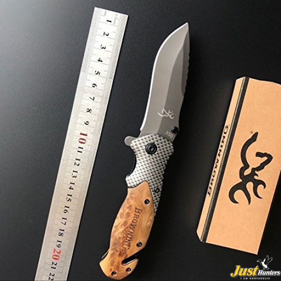 Browning X50 Tactical Wood Folding Hunting Knife