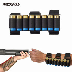 New Outdoor Tactical Ammo Holster Hunting Shooting Forearm Cartridge Holder Detachable Bandolier Bullet Pouch Belts Black Khaki
