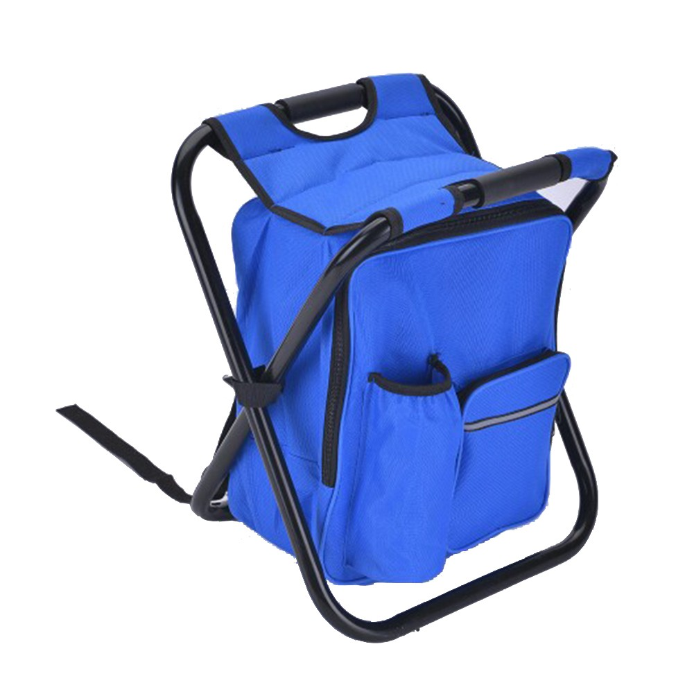 Folding Camping Chair Stool Backpack With Cooler Insulated