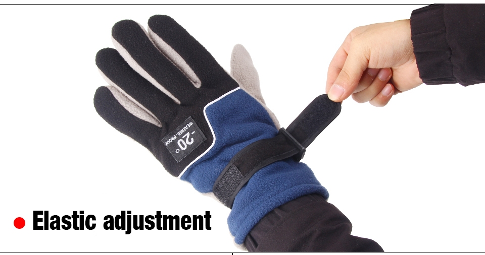 Seapesca adjustable fishing gloves men full finger anti for Winter fishing gloves